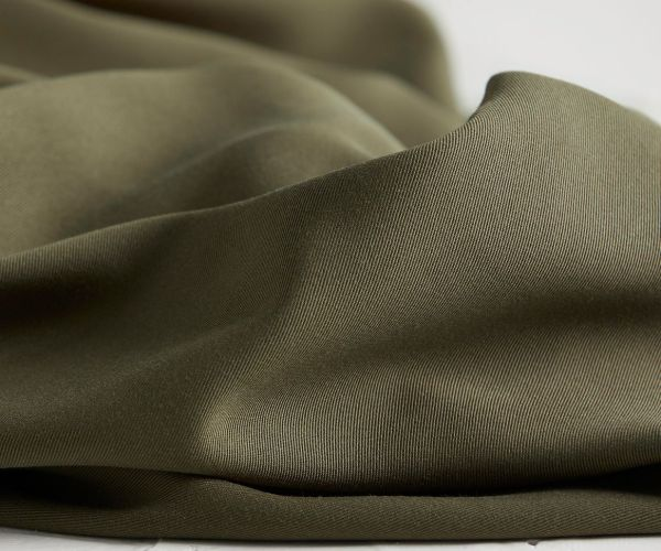 Tencel Meet Milk Khaki Meterware Olive Stoff Fabric
