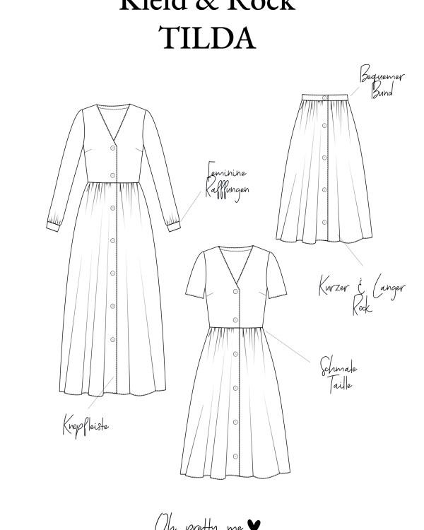 Schnittmuster zum selbernähen des Boho Kleid