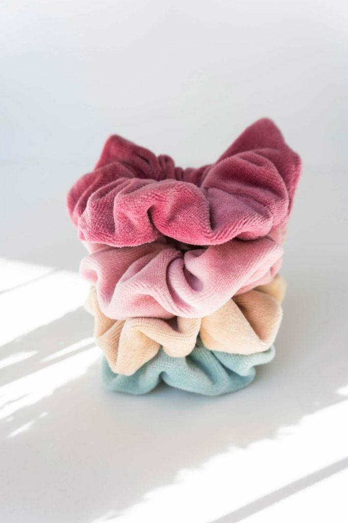 nachhaltige Scrunchie aus Biobaumwolle made in Germany Berry Rosa 6