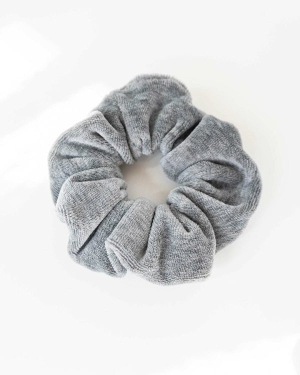 Scrunchie Haargummi für Frauen in Grau