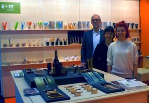 Manufakturen-Blog: e+m holzprodukte mit v. l. Wolfram Mümmler, Brigitte und Dorothee Mümmler (Foto: Wigmar Bressel)