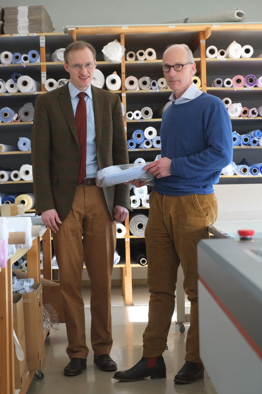 Manufakturen-Blog: Hans-Henrik Ohff und Christian von Campe in der Manufaktur in Lauterbach (Foto: Martin Specht)