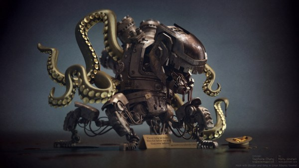 Alien Octopus Robot