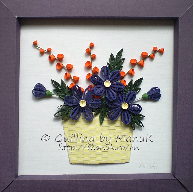 A Basket of Quilled Flowers