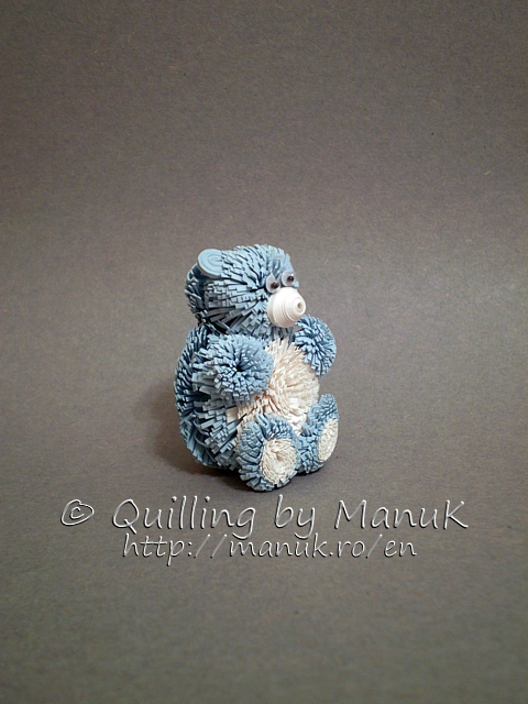 Quilled Teddy Bear