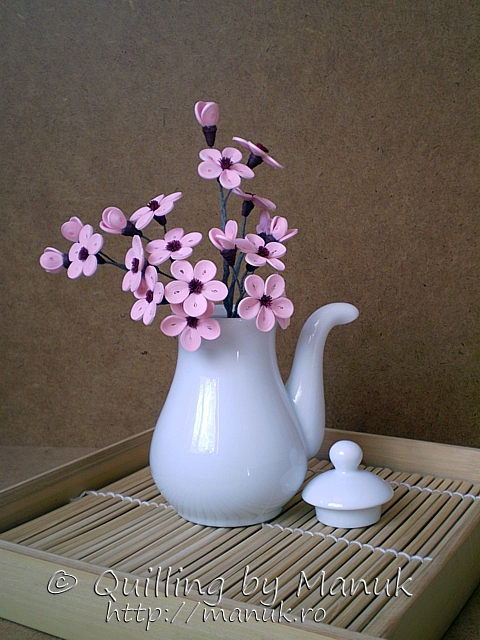 Tea Time! – Quilled Cherry Blossom Branch