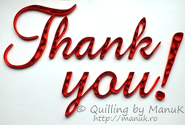 Quilled 'Thank you!' Paper Graphic