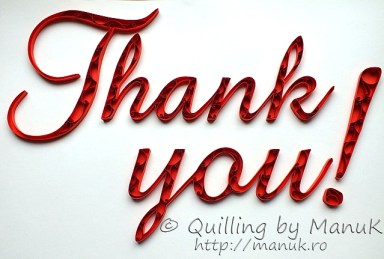 "Quilled ""Thank You!"" Paper Graphic"