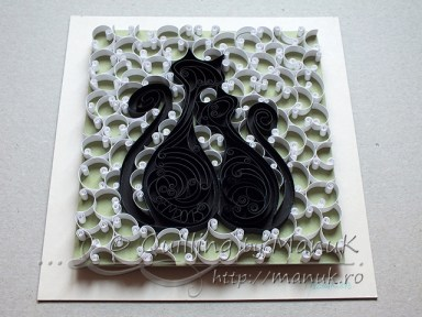 Quilled Cats - Paper Graphic
