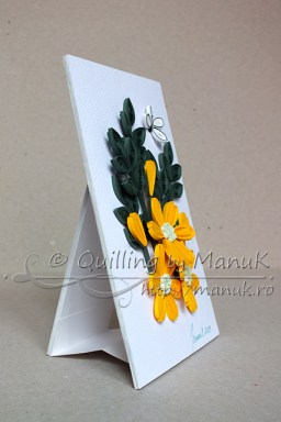 Simple Quilled Flower Arrangement - Side View