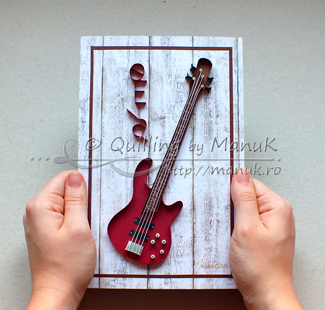 Quilled Bass Guitar – Paper Graphic