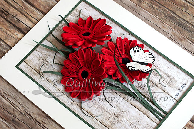 Quilled Gerbera Flowers