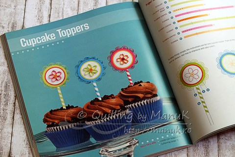 Pretty Quilled Cards - Cupcake Toppers
