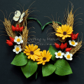 Quilled Summer Flowers in a Heart