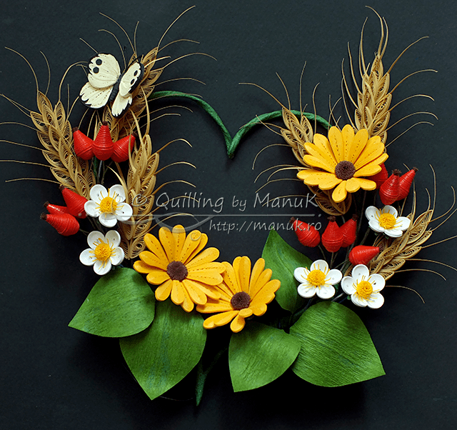 Quilled Summer Heart