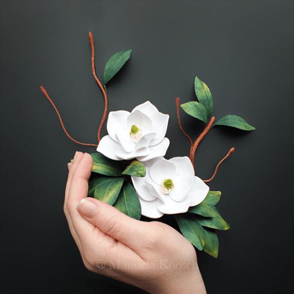 Magnolia Wall Art - Quilling Paper Magnolia