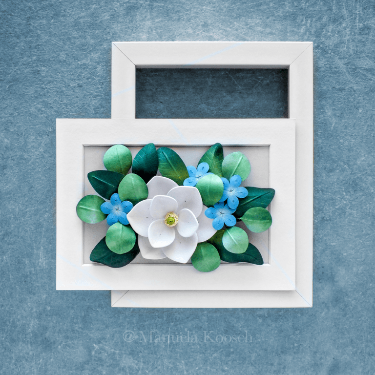 Flowers for Cancer - Paper Quilling Magnolia and Plumbago Flowers