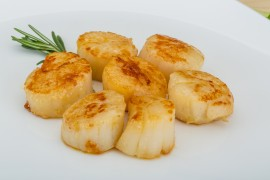 recipes, honey recipes, scallop recipes, grilled scallops