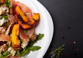 peach salad, Manuka honey recipes