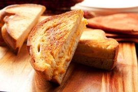 grilled cheese, Manuka honey recipe