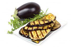 roasted eggplant with raw honey