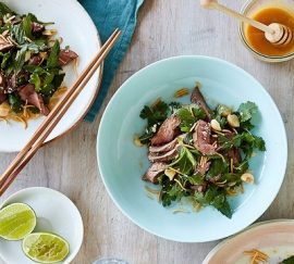grilled lamb with manuka honey dressing recipe