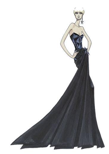 Croquis de moda  Atelier Versace  Manu Luize