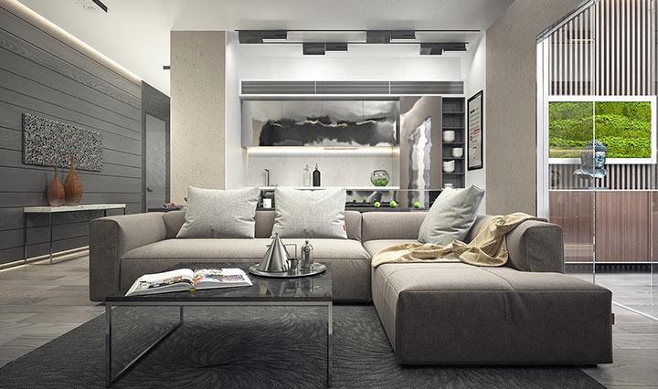 charcoal gray sofa bed southern motion fandango leather power recliner 30 salas minimalistas para se apaixonar | manu luize