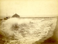 Hurricane of 1893, Bridgeport, Connecticut. Photograph by Harriet V.S. Thorne. Okay, not a blizzard, but it's a hurricane for pete's sake, and it could have been winter.