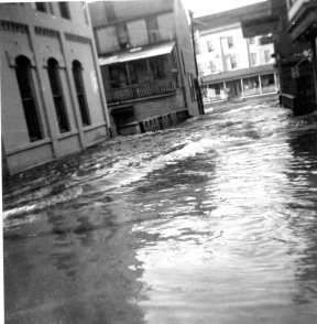 Freshwater Brook normally flowed under the bridge on Prospect Street, but not this day!