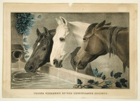 Three Members of the Temperance Society, lithograph published by E. C. Kellogg, Hartford, ca. 1850. CHS 1950.202.170