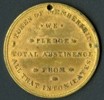 Reverse of the Cold Water Army membership token. CHS 2014.52.0