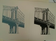 Richard Welling. Manhattan Bridge. 2012.284.6305 and .6306.