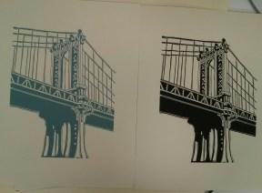 Richard Welling. Manhattan Bridge. 2012.284.6305 and .6306.