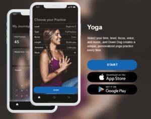 Down Dog application de yoga