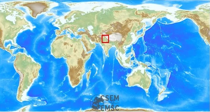 उत्तर भारत हिला भूकंप के झटके से