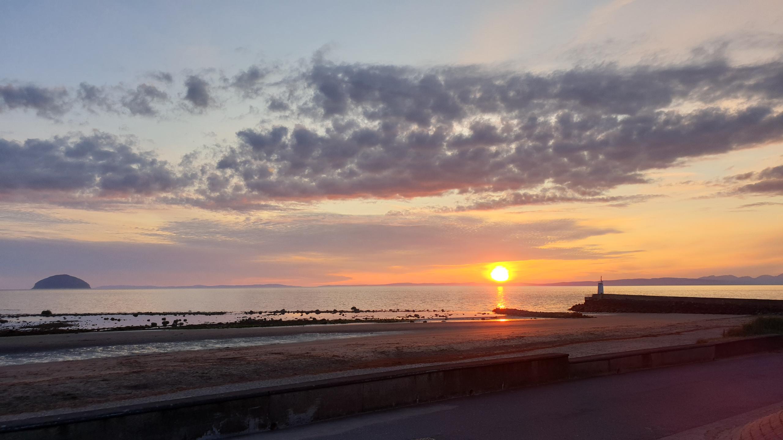Girvan Harbour sunset