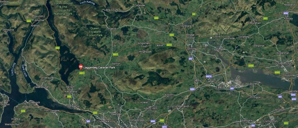 Google Map - Lagganbeg