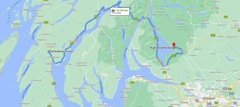 Map to Gartfair