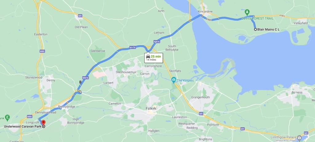 Map to Underwood