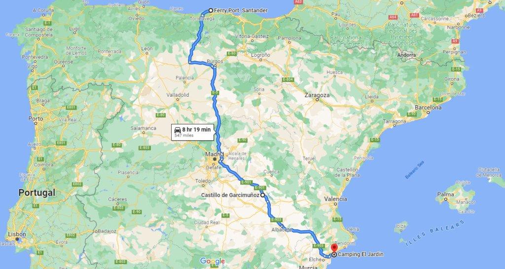 Week 3 Route in Spain b