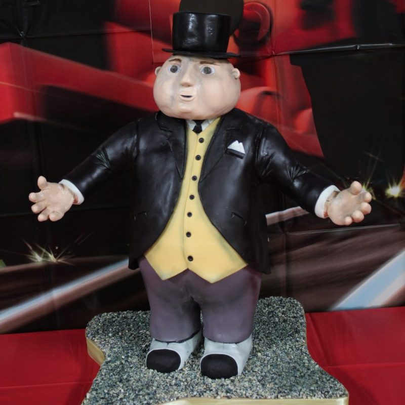 Sculpted Sir Topham Hatt Cake