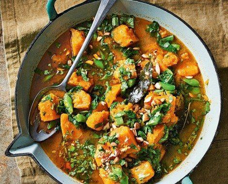 healthy meal prep recipes - butternut squash massaman curry