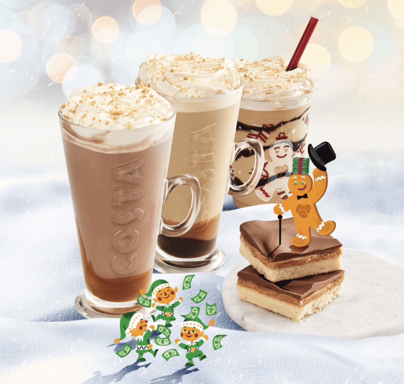 Festive drinks 2017 - Costa Billionaire's Latte and Hot Chocolate