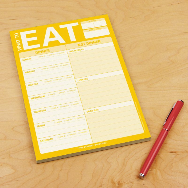 What To Eat pad - Things that will make meal prep easier