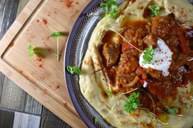 Beef and chorizo goulash