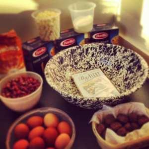 timpano recipe, big night movie menu, big night timpano recipe, timballo