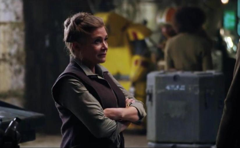First Look – Princess Leia in Star Wars: The Force Awakens