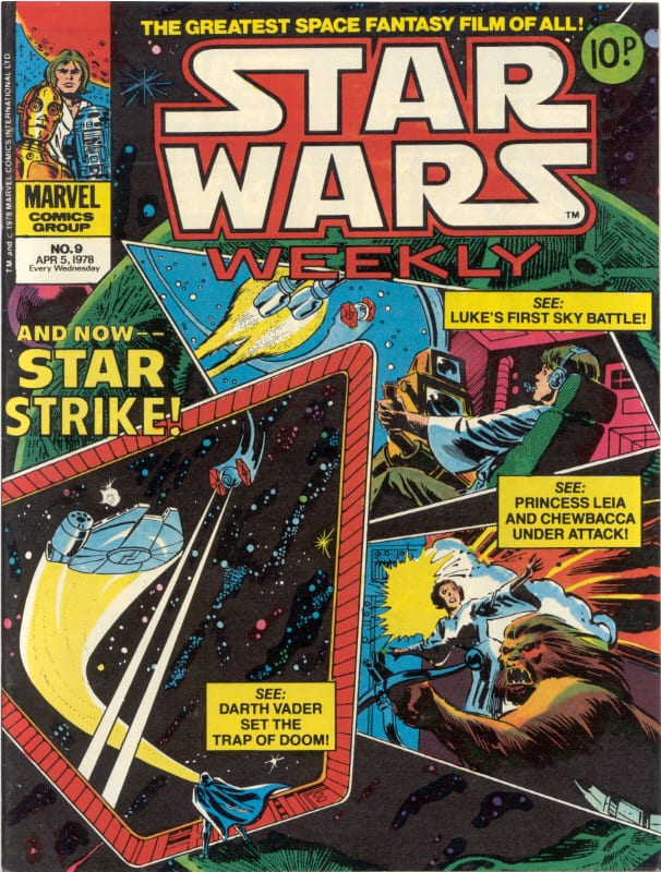 Marvel UK Star Wars Weekly Comic 1978 - issue 9