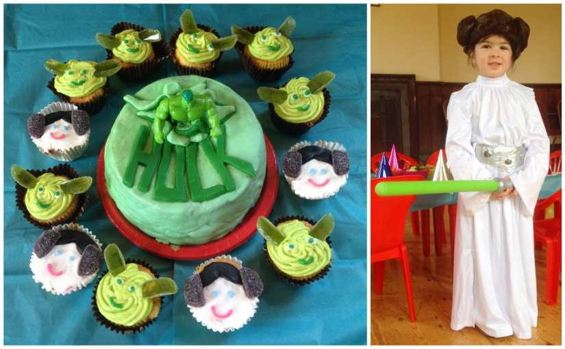 4 year old girls birthday party cake and fancy dress